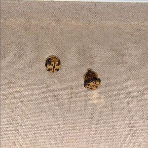 Tory Burch Tortoise Stud Earrings